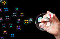 Many colored bubbles Stock Photography