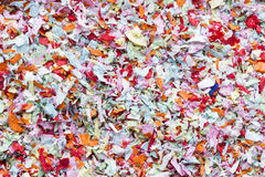 Many colored carnival confett Royalty Free Stock Images
