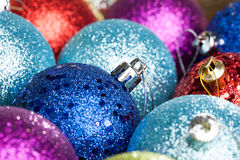 many colored Christmas balls Stock Images