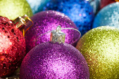 Many colored Christmas balls Royalty Free Stock Photography