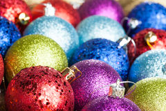 Many colored Christmas balls Stock Image