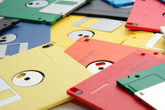 Many colored compute diskette Stock Photography