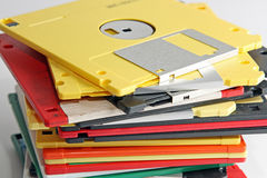 Many colored compute diskette Royalty Free Stock Photo