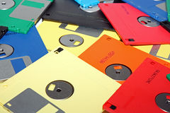 Many colored computer diskette Royalty Free Stock Photography