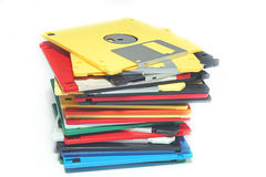 Many colored computer diskette Stock Photos
