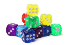 Many-colored dice set Royalty Free Stock Photo