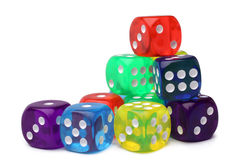 Many-colored dice set Royalty Free Stock Photography