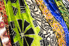 Many colored foulards ready to be sell. Ed Royalty Free Stock Image