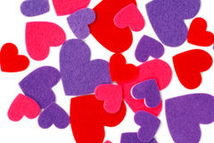Many colored heart shapes Royalty Free Stock Image
