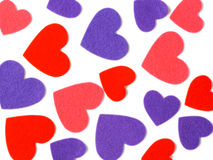 Many colored heart shapes Royalty Free Stock Photography
