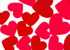 Many colored heart shapes Royalty Free Stock Photo