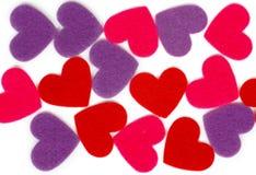 Many colored heart shapes Stock Photo