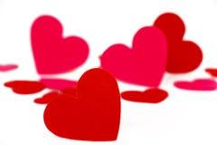 Many colored heart shapes Stock Photos