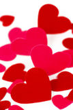 Many colored heart shapes Royalty Free Stock Images