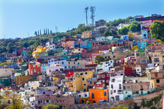 Many Colored Houses Guanajuato Mexico Royalty Free Stock Images