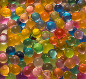 Many colored hydrogel beads Royalty Free Stock Photos