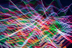 Many-Colored Light Streaks Abstract Stock Images