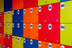 Many colored lockers Royalty Free Stock Image