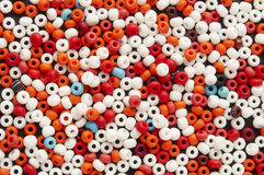 Many-colored mix of beads Royalty Free Stock Photo