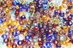 Many-colored mix of beads Royalty Free Stock Images