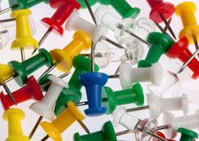 Many Colored Paper Clips on White. Stock Photography