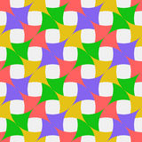Many-colored pattern. The composition consists of geometric figures of bright colors Stock Photography