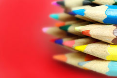 Many colored pencil Royalty Free Stock Photos