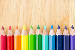 Many colored pencils Stock Photography