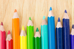 Many colored pencils Stock Image