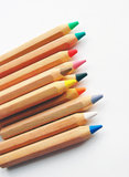 Many colored pencils Royalty Free Stock Photos