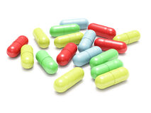 Many colored pills Stock Image