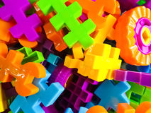 Many colored puzzles Stock Photos