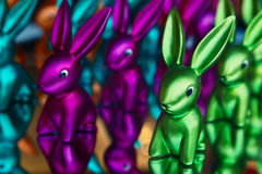 Many-colored rabbit Stock Images