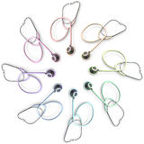 Many Colored Stethoscopes Stock Photos