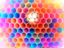 Many colored straws Stock Photo