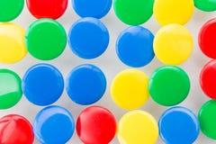 Many colored tacks Stock Photography