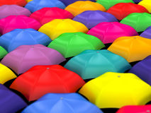 Many colored umbrellas Stock Image