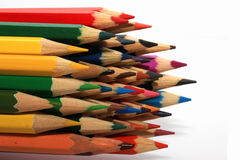 Many colored wooden pencils Stock Photos