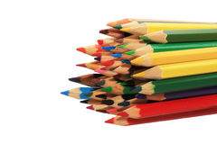 Many colored wooden pencils Stock Photography