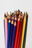 Many colored wooden pencils Royalty Free Stock Images