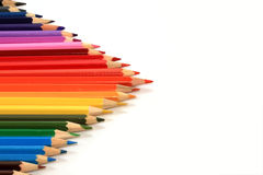 Many colored wooden pencils Royalty Free Stock Image