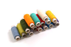 Many of colored yarn Stock Photography