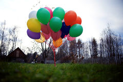 Many colorful balloons Stock Photos
