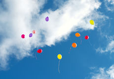 Many colorful baloons. Royalty Free Stock Photos