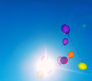 Many colorful baloons. Royalty Free Stock Images