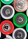 Many colorful batteries Stock Image