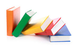 Many colorful blank books fall Royalty Free Stock Photography
