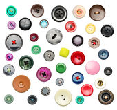 Many colorful buttons Stock Photo