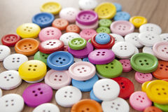 Many colorful buttons. Many different colorful buttons to sew as a background Stock Photography