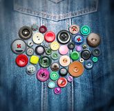 Many colorful buttons Royalty Free Stock Photography